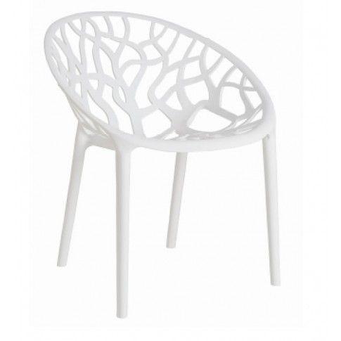 Zdjęcie produktu Krzesło ażurowe Giato - białe.