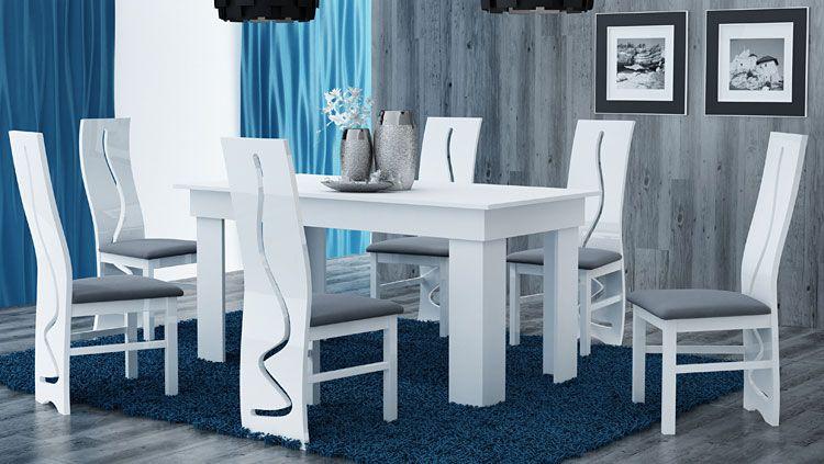 Biały stół do jadalni 160x80 cm Destar