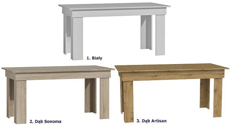 Duży stół kuchenny w minimalistycznym stylu Destar