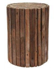 Taboret Villy - drewniany