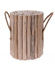 Taboret Villis - drewniany
