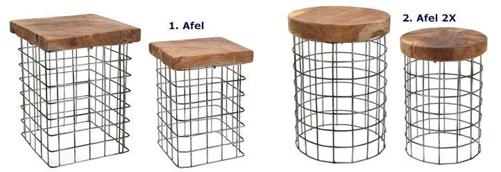 Designerskie stołki Afel - drewno
