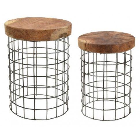 Zdjęcie produktu Zestaw taboretów Afel 2X - drewniane.