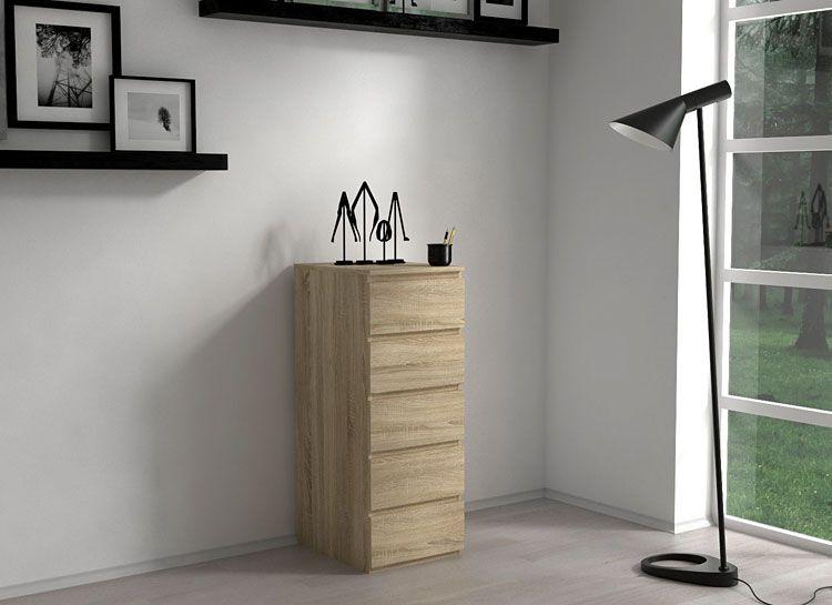 Komoda do salonu, biura dąb sonoma Luvia