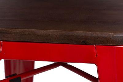 Loftowy stołek Kimmi - czerwony