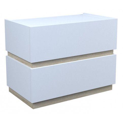 Zdjęcie produktu Szafka nocna Tibia 2X - biała + dąb sonoma.