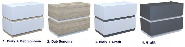 Minimalistyczna szafka nocna do sypialni Tibia 2X