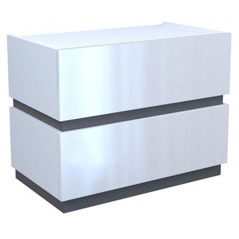Zdjęcie produktu Szafka nocna Tibia 3X - biały połysk + grafit.