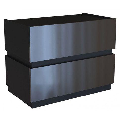 Zdjęcie produktu Lakierowana szafka nocna Tibia 3X - czarna.