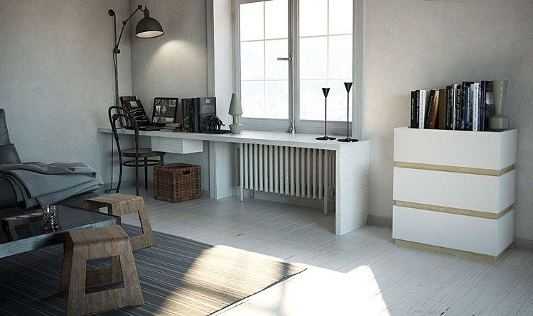 Biała komoda do salonu, sypialni Sedia 2X