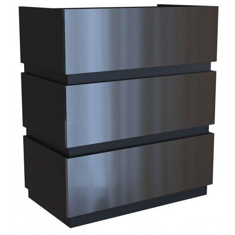 Zdjęcie produktu Komoda na wysoki połysk Sedia 3X - czarna.