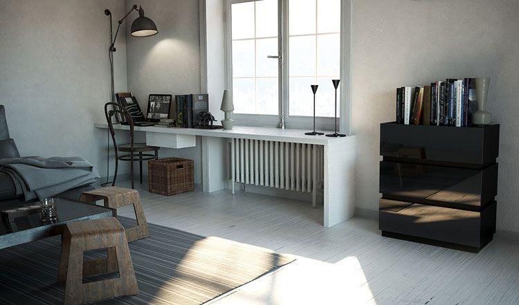 Czarna komoda do salonu, sypialni wysoki połysk Sedia 3X