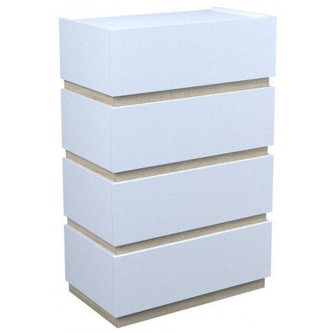 Zdjęcie produktu Komoda Sedia 4X - biała + dąb sonoma.