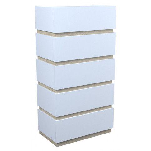 Zdjęcie produktu Komoda Sedia 6X - biała + dąb sonoma.