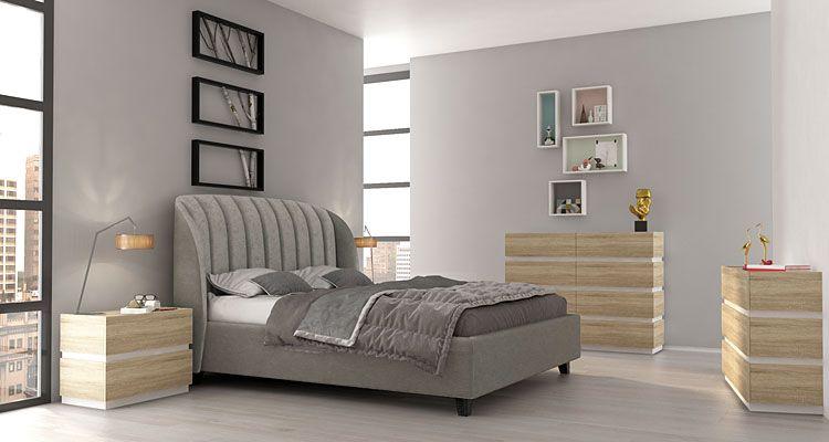 Systemowe meble do sypialni dąb sonoma Fandi