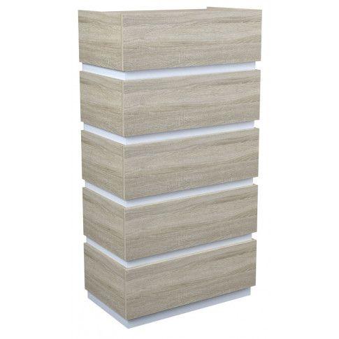 Zdjęcie produktu Komoda Sedia 6X - dąb sonoma + biała.
