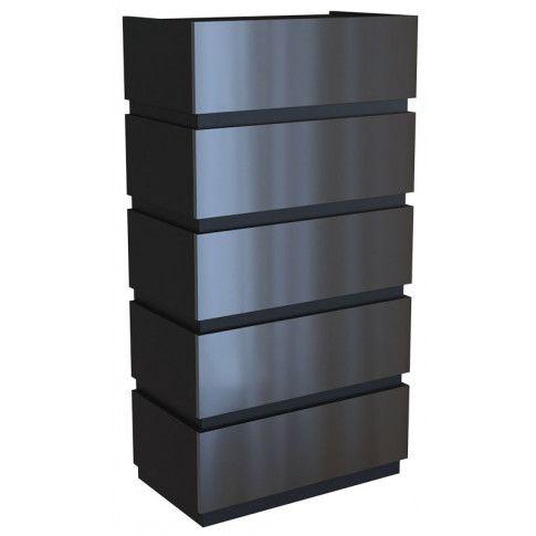 Zdjęcie produktu Lakierowana komoda Sedia 7X - czarna.