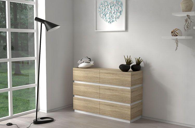 Funkcjonalna komoda do salonu, sypialni dąb sonoma Nestia 2X