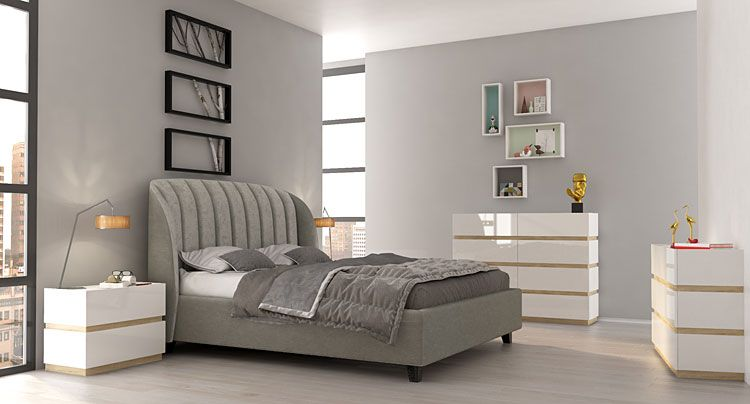 Kolekcja modułowych mebli lakierowanych do sypialni Fandi