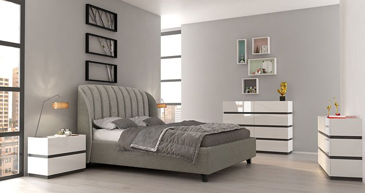 Lakierowane białe meble systemowe do sypialni Fandi