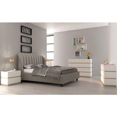 Zdjęcie produktu Zestaw mebli modułowych Fandi - biały + dąb sonoma.