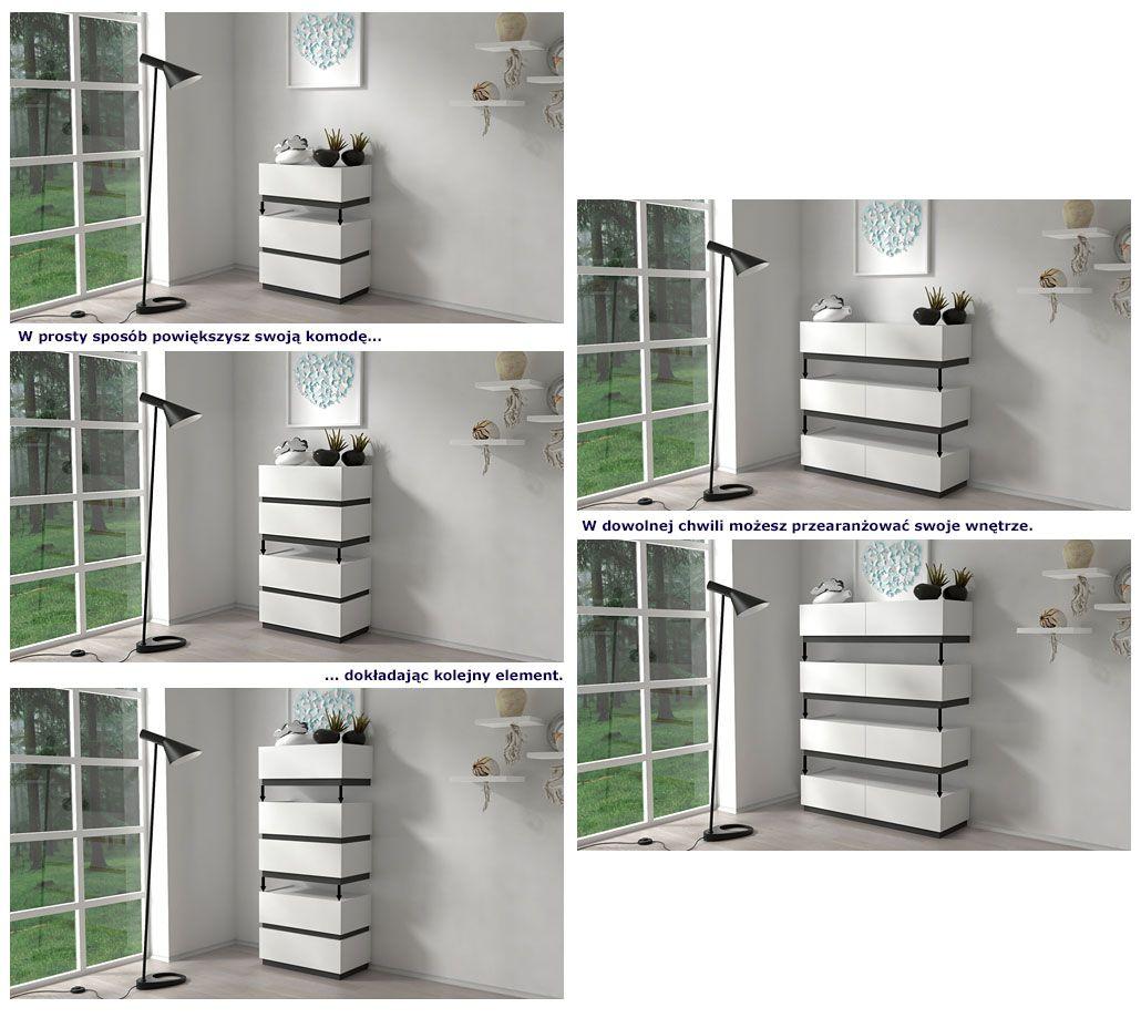 Kolekcja białych mebli systemowych Fandi