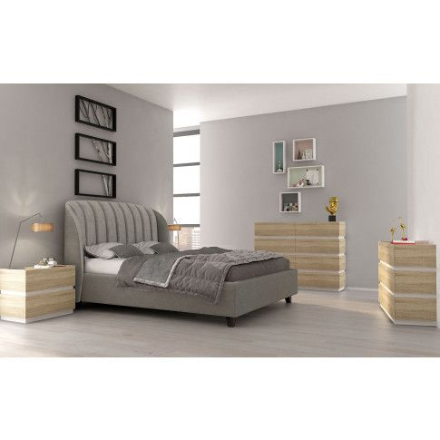 Zdjęcie produktu Komplet mebli systemowych Fandi - dąb sonoma + biały.