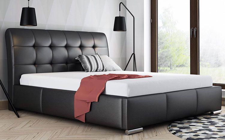 Pikowane łóżko dwuosobowe ze stelażem Tibis 2X 160x200