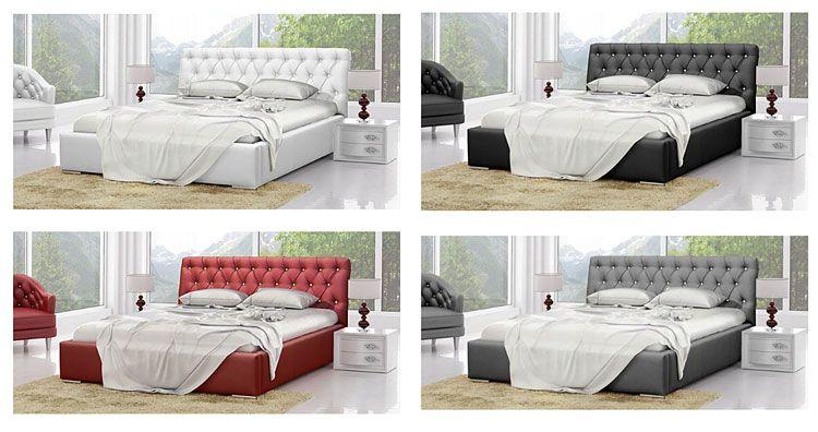 Małżeńskie łóżko pikowane 180x200 Luxor