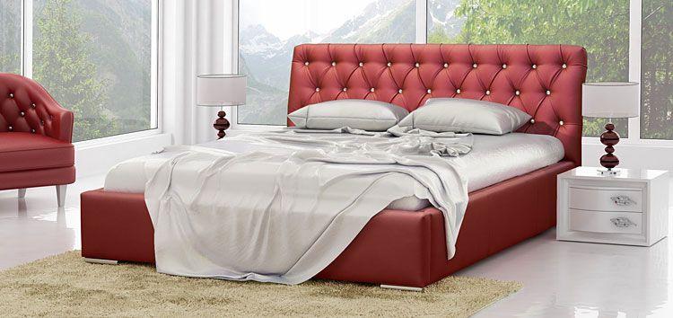 Duże łóżko z pojemnikiem na pościel 160x200 Luxor 2X