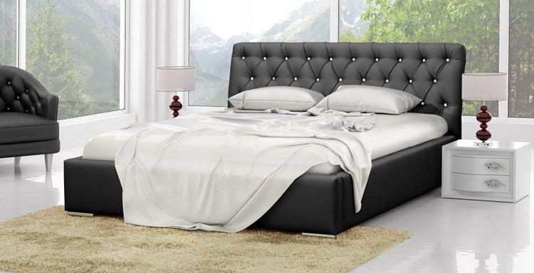 Pikowane łóżko małżeńskie 160x200 Luxor 3X