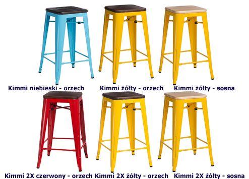 Loftowe hokery Kimmi - designerskie