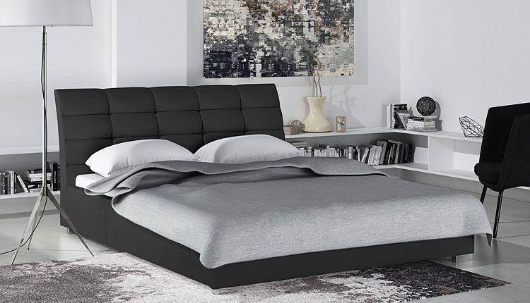 Podwójne łóżko z pojemnikiem na pościel 180x200 Tiris