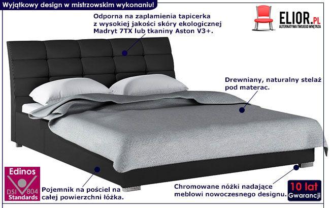 Małżeńskie łóżko tapicerowane 180x200 Tiris