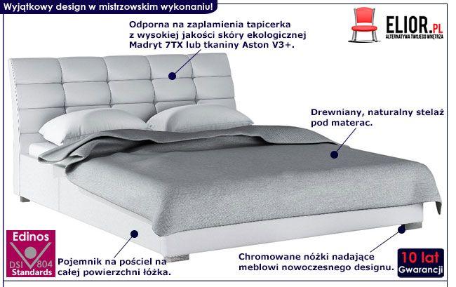 Tapicerowane łóżko dwuosobowe 160x200 Tiris