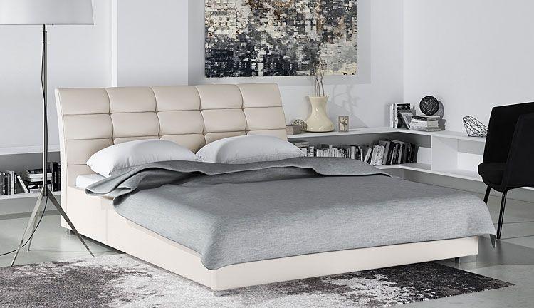 Dwuosobowe łóżko z drewnianym stelażem 140x200 Tiris
