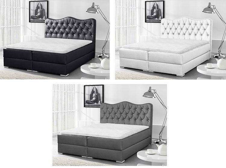 Tapicerowane łóżko kontynentalne z pojemnikiem na pościel Letis