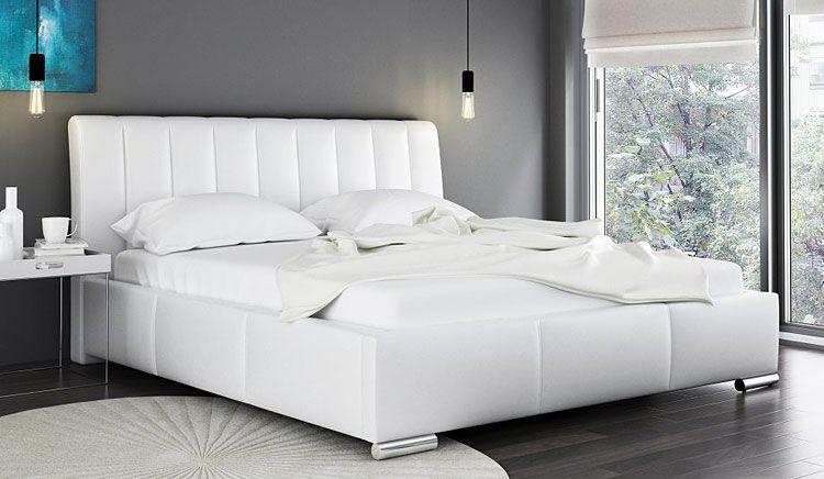 Podwójne łóżko tapicerowane ze stelażem 160x200 Venon 2X