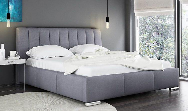 Tapicerowane łóżko z podnoszonym stelażem Venon 2X 140x200