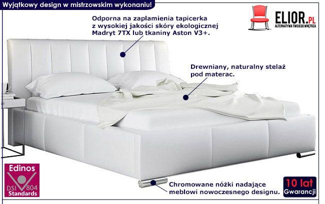 Tapicerowane łóżko podwójne 180x200 Venon 3X