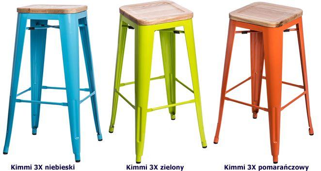 Industrialne hokery Kimmi 3X - jesion