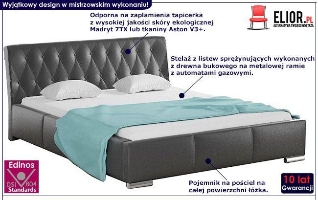 Dwuosobowe łóżko z pojemnikiem na pościel 160x200 Tonkin 2X
