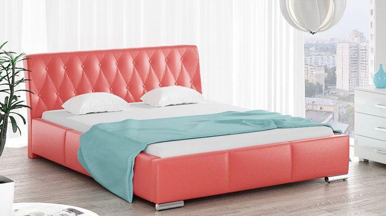 Tapicerowane łóżko z pojemnikiem na pościel 140x200 Tonkin 2X