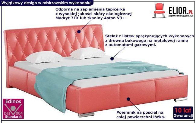 Pikowane łóżko dwuosobowe 140x200 Tonkin 2X