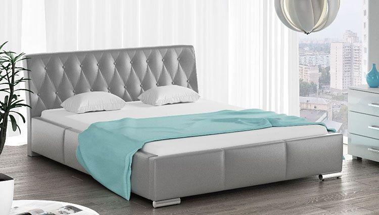 Podwójne łóżko tapicerowane ze stelażem Tonkin 3X 180x200