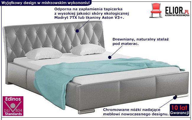 Małżeńskie łóżko pikowane 180x200 Tonkin 3X