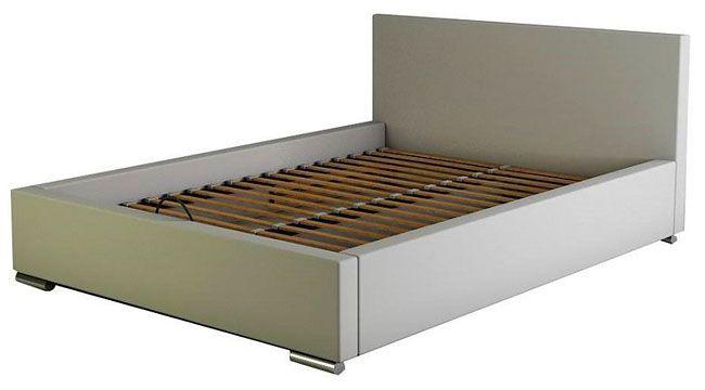 Łóżko tapicerowane z drewnianym stelażem Tonkin 3X