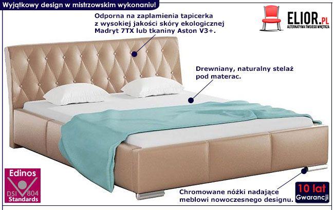Pikowane łóżko małżeńskie 160x200 Tonkin 3X