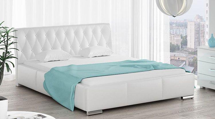 Tapicerowane łóżko dwuosobowe 140x200 Tonkin 3X