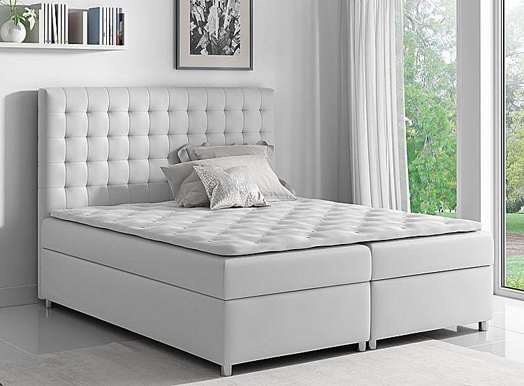 Pikowane łóżko boxspring dwuosobowe 200x200 Rexer
